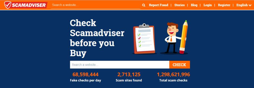 strona główna narzędzia do wykrywania scamu
