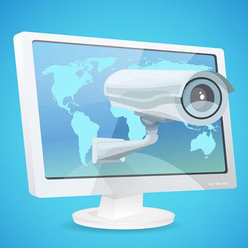 kamerka śledząca z ekranu monitora