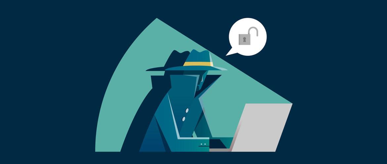szpieg przy komputerze